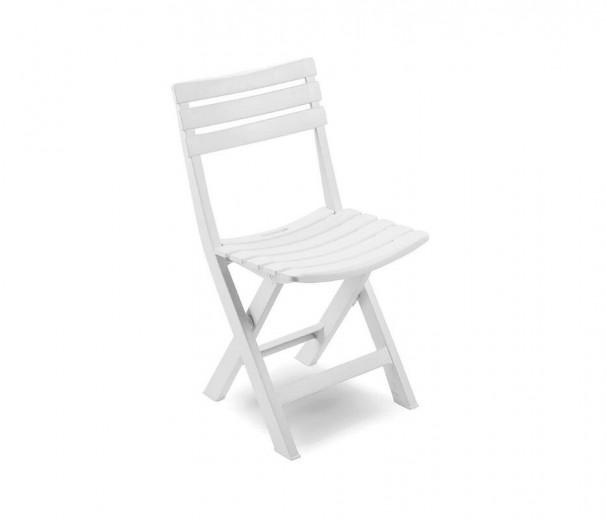 Chaise pliante plastique -polypropylène -blanche
