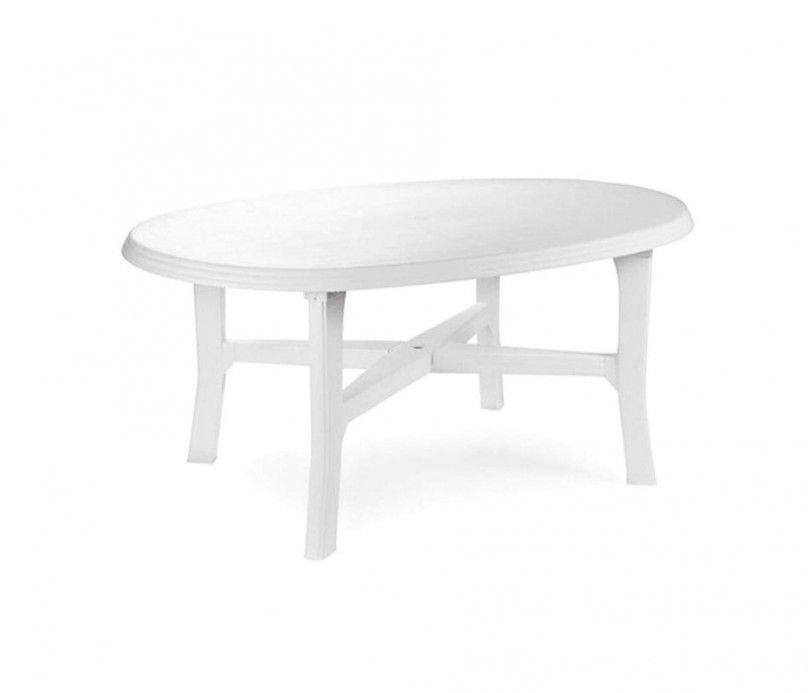 Table en plastique - blanche - Danubio ovale polypropylène blanc - 165 cm