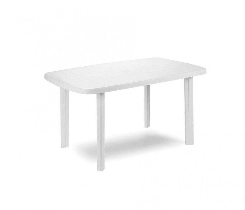 Table rectangle - plastique-blanche - 100% polypropylène