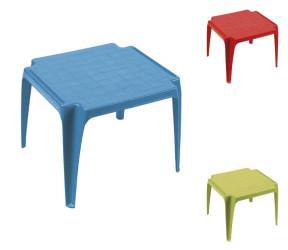 Table basse enfant ou d'appoint empilable plastique bleu, rouge ou vert anis