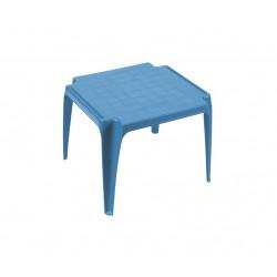Table basse enfant ou d'appoint empilable plastique bleu