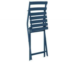 Chaise pliante greensboro bleu indigo mareco sarzeau