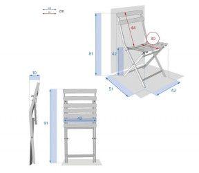 Chaise pliante bistrot greensboro dimensions