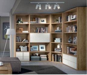 bibliothèque modulaire salcedo class sur mesure avec portes