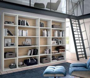 bibliothèque modulaire salcedo class sur mesure bois et blanc