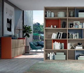 bibliothèque modulaire salcedo class sur mesure bois et couleurs