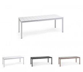 table résistante, extensible jusqu'à 2.10 mètres intérieure-extérieure rio anthracite polypropylène Nardi