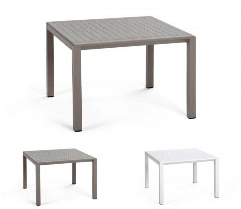 Table résistante, basse, d'appoint intérieure-extérieure Aria taupe polypropylène Nardi