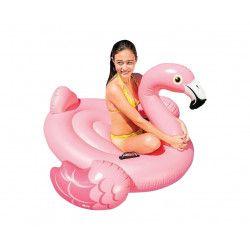 Flamant rose à chevaucher à la piscine ou à la plage- 142x137x97 cm