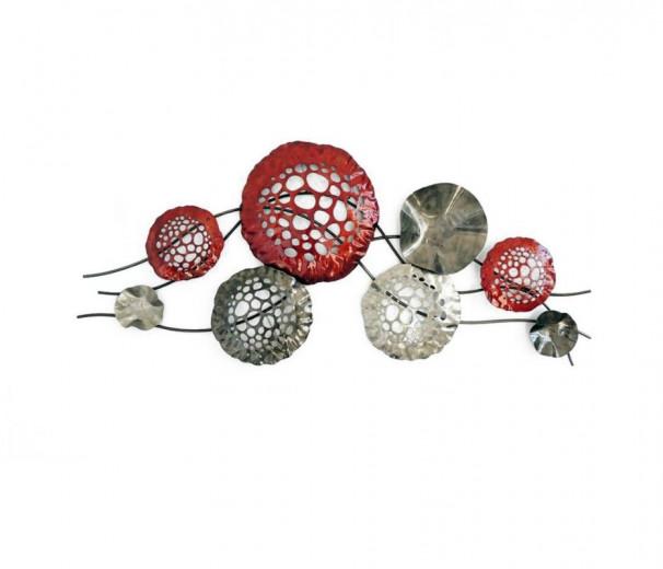 Modèle abstrait sphère rouge et gris