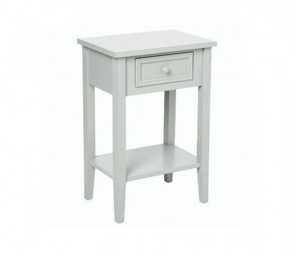 Table de chevet charme 1 tiroir blanc  45x30xh67 cm