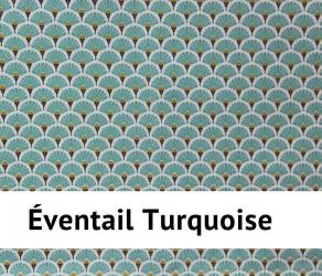Nappe enduite éventail - Imperméable et anti-tâches - Existe en 4 dimensions - Turquoise -