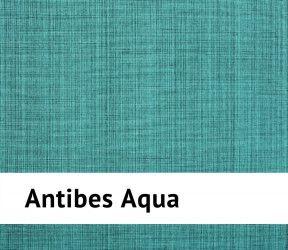 Galette de chaise extérieure imperméable Antibes Aqua - 40x40 cm - Existe aussi en jaune