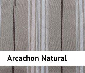 Galette de chaise arcachon 100 % coton - carrée ou ronde - naturel - 40 x40 cm