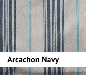 Galette de chaise arcachon 100 % coton - carrée ou ronde -  bleu navy - 40 x40 cm
