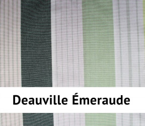 Galette de chaise deauville 100 % coton - carrée ou ronde -  émeraude - 40 x40 cm
