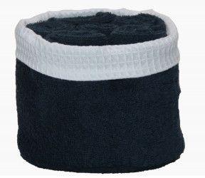 Panier invité Fanny crépuscule - 6 serviettes invités salle de bain - 30x30 cm -