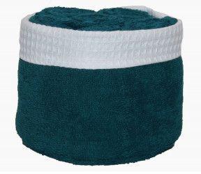 Panier invité Fanny océan - 6 serviettes invités salle de bain - 30x30 cm -