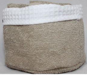 Panier invité Fanny naturel - 6 serviettes invités salle de bain - 30x30 cm - Existe en différents coloris