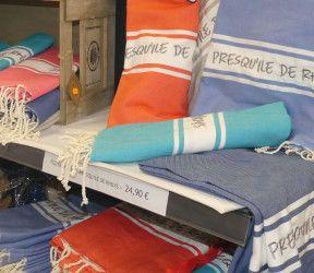 Fouta brodée Presqu'île de Rhuys 1mx2m plusieurs coloris disponibles