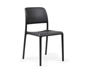 Chaise résistante, légère BORA anthracite polypropylène Nardi