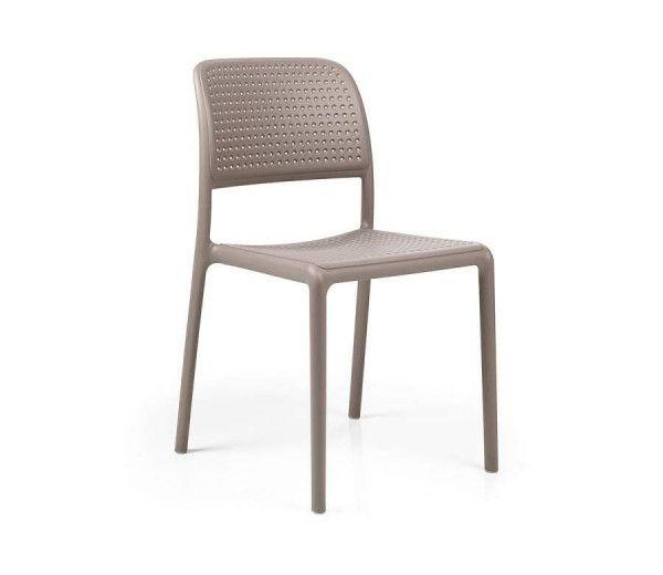 Chaise résistante, légère BORA taupe polypropylène Nardi