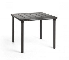 Table résistante, empilable et pour petits espaces intérieure-extérieure Clipx 70 anthracite polypropylène Nardi