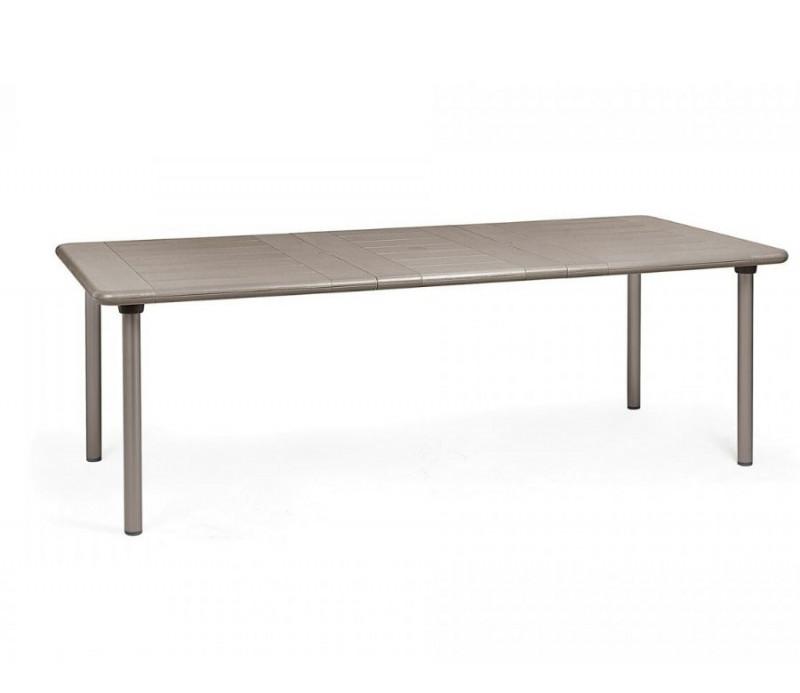 Grande table résistante, extensible jusqu'à 2.20 mètres intérieure-extérieure MAESTRALE 220 taupe polypropylène Nardi