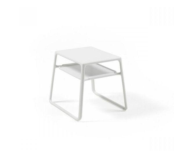 Table résistante, basse, d'appoint intérieure-extérieure Pop blanche polypropylène Nardi