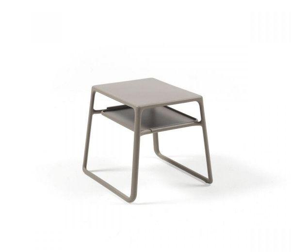 Table résistante, basse, d'appoint intérieure-extérieure Pop taupe polypropylène Nardi