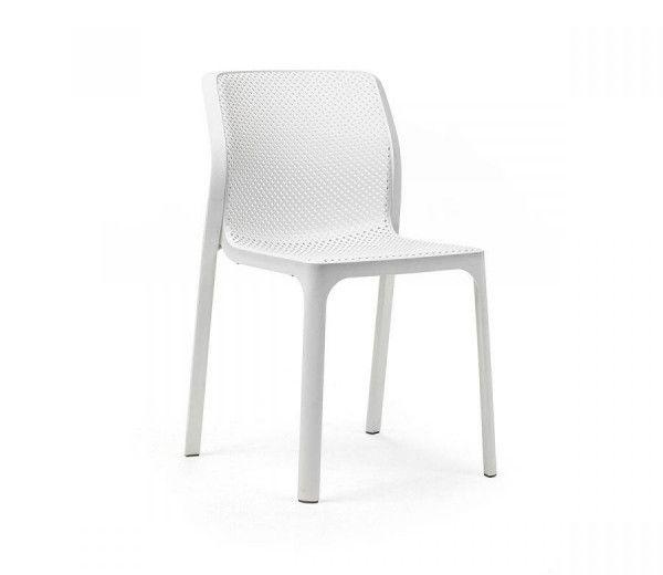 Chaise résistante, légère et aérée intérieure-extérieure bit blanche polypropylène Nardi