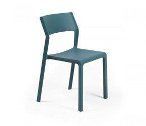 Chaise résistante intérieure-extérieure Trill bleu polypropylène Nardi