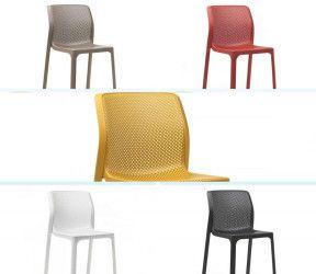 Chaise résistante, légère et aérée intérieure-extérieure bit  polypropylène Nardi