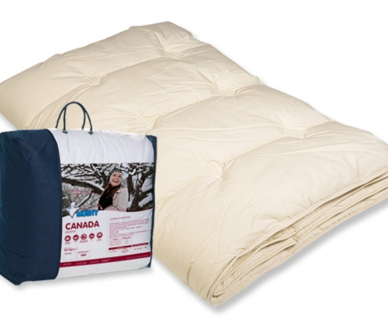Couette hiver 500 grs enveloppe coton Canada MOSHY