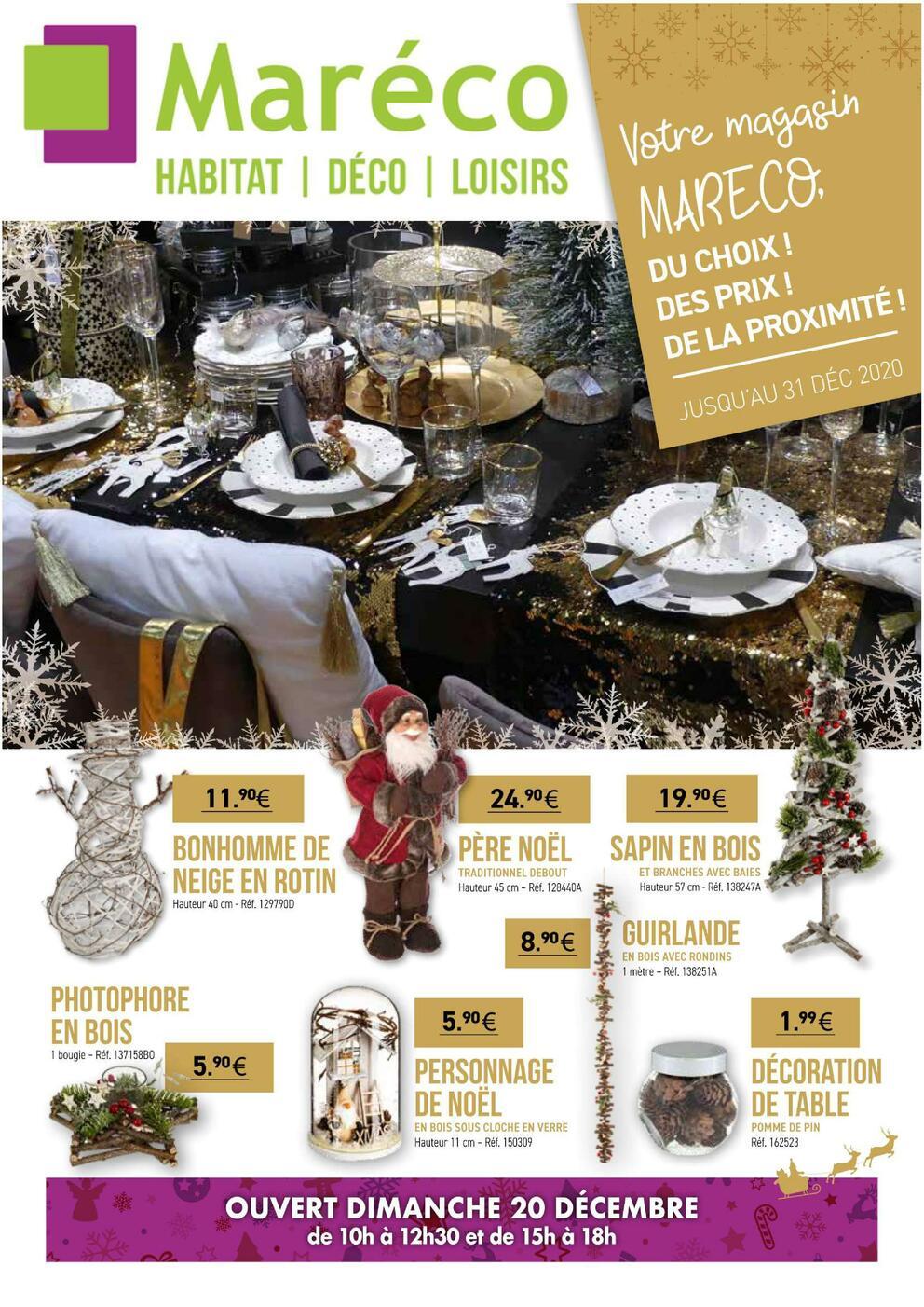 Calalogue de Noel et Fetes - Maréco à Sarzeau