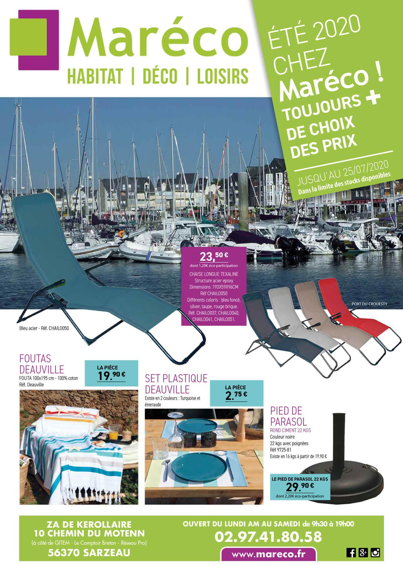 catalogue promotions mareco sarzeau ete 2020